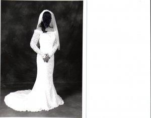 WEDDING DRESS;OLEG CASSINI