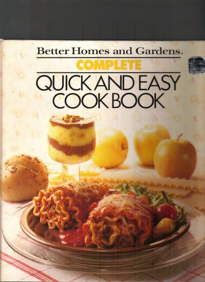 BETTER HOMES AND GARDENS-QUICK AND EASY COOKBOOK