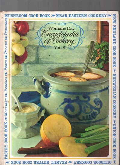 WOMAN'S DAY; ENCYCLOPEDIA OF COOKERY VOLUMES 1,8,10 ( 3) BOOKS