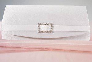 Satin Crystal Buckle Evening Bag