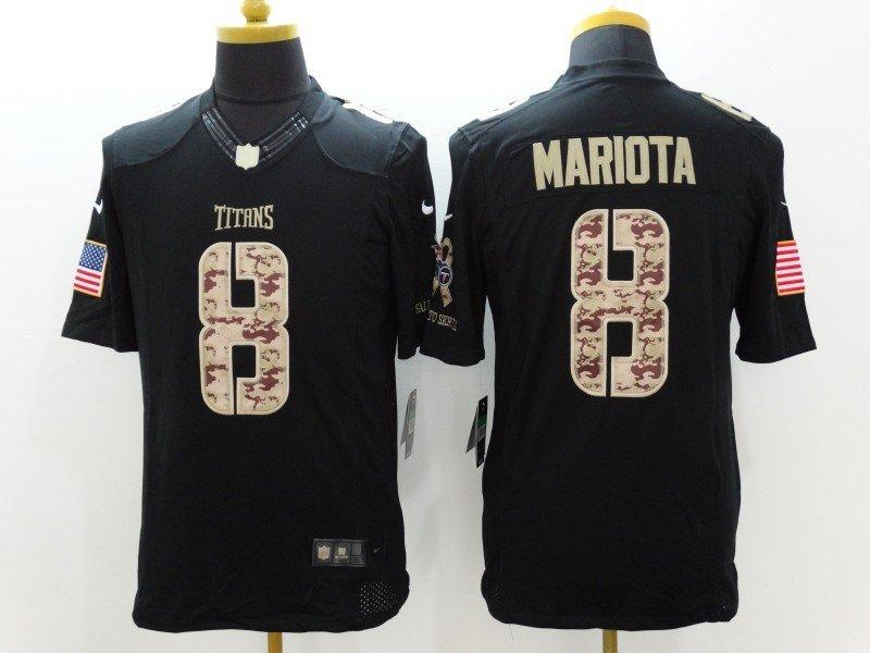 af8d5048580 Men's Tennessee Titans #8 MARCUS MARIOTA NFL Jersey Black USA