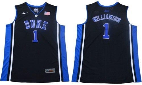 newest a0b82 1b25d Youth 2019 Draft Hot #1( No.Blue) Zion Williamson Duke NCAA Basketball  Black Jersey