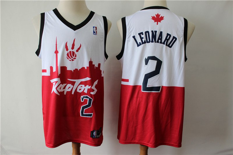 low priced 872ab 7439a 2019 Toronto Raptors #2 Kawhi Leonard White/Red Jersey MEN
