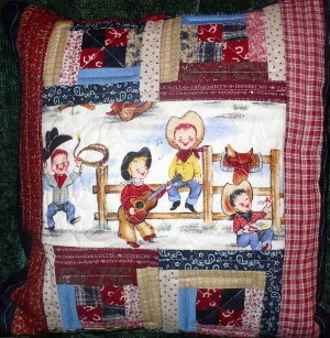 Lil Cowpoke Quilted Pillow