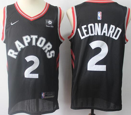 3c80646d Men's Toronto Raptors 2# Kawhi Leonard Jersey Black NEW