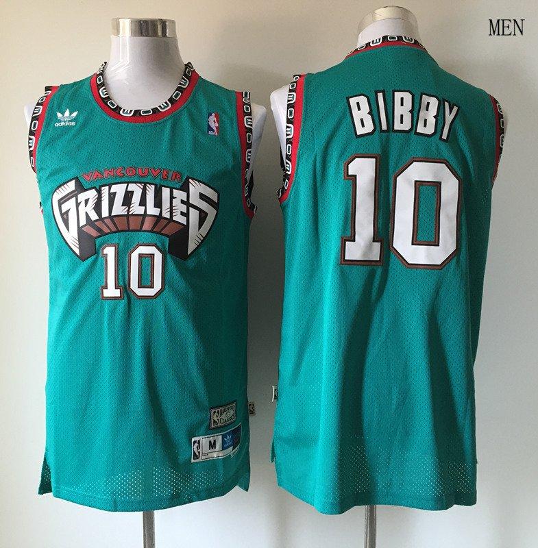 454ef882ecd2 Men s Vancouver Grizzlies  10 Mike Bibby Basketball Jersey Green