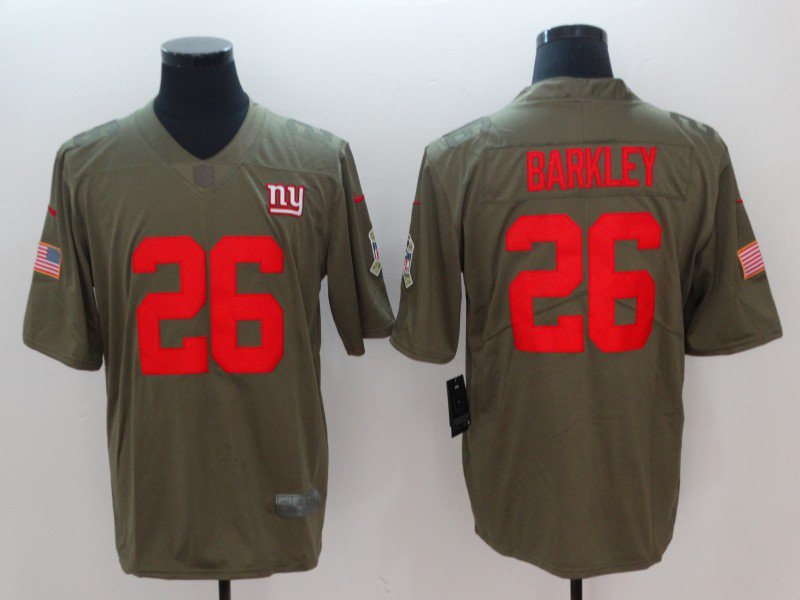 official photos d0f31 4d43c Any Size Giants 26 Saquon Barkley Limited Salute To Service ...