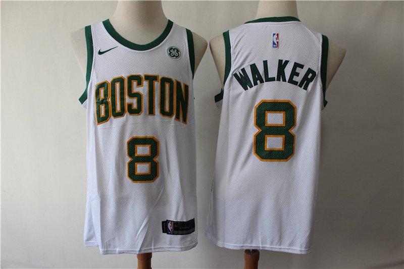 online retailer 21b7a 773c0 Men's Boston Celtics #8 Kemba Walker Jersey White City ...