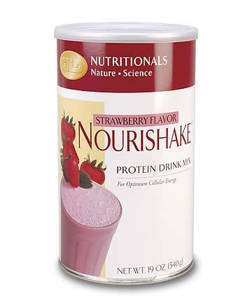 NouriShake Drink Mix-Strawberry (19 oz.) single