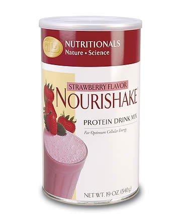 NouriShake Drink Mix-Strawberry (19 oz.) case Qty.6