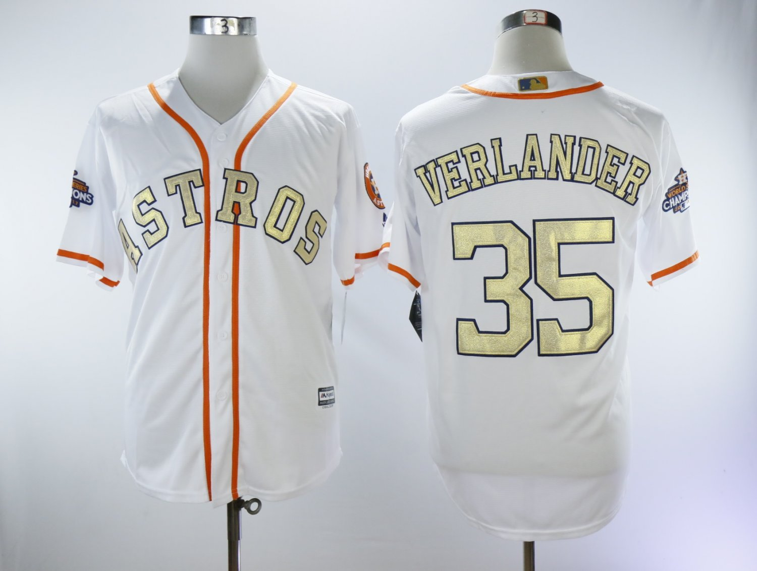 sports shoes 7cae6 e4102 Men's Women's Youth Houston Astros Justin Verlander White Gold Cool Base  Jersey