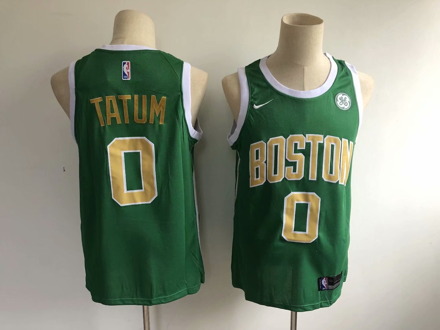hot sale online e366c 22692 Men's Boston Celtics Jayson Tatum Green Earned Edition Basketball Jersey  Stitched