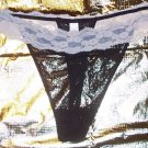 Black & Tan Sheer Thong