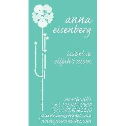 Aqua Mommy Card (Vertical)
