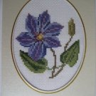 finished cross stitch card pretty flower