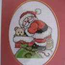 "Finished cross stitich card  ""Santa"""