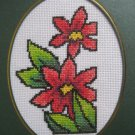 "Finished cross stitich card ""Pretty Flower"""