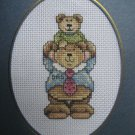 "Finished cross stitch card ""Happy Father's Day"""