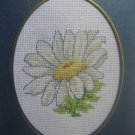 "Finished Cross stitch Card ""Pretty flower"""