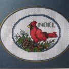 "Finished cross stitch greeting card ""NOEL"""
