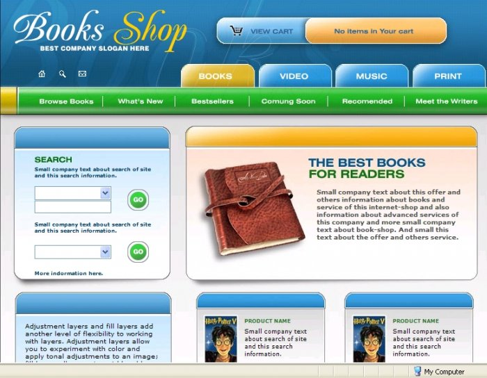 Book Store template