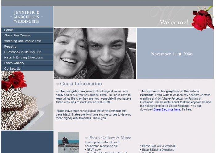 Wedding Website Template