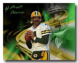 Brett Favre Photo , #4 Green Bay Packers Custom NFL Canvas Print (nfl001)