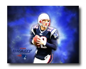 Tom Brady Photo , #12 New England Patriots Canvas Print (NFL022)