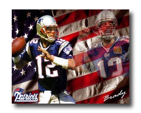 Tom Brady Photo , #12 New England Patriots Canvas Print (NFL023)