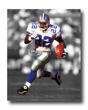Emmitt Smith Photo, #22 Dallas Cowboys NFL Canvas Print (NFL016)