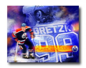 Wayne Gretzky Photo, #99 New York Rangers Custom Canvas Print (NHL020)