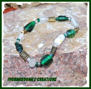 Green and Gold Bracelet