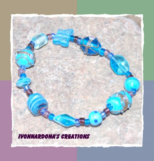 Turquoise and Butterfly Bracelet