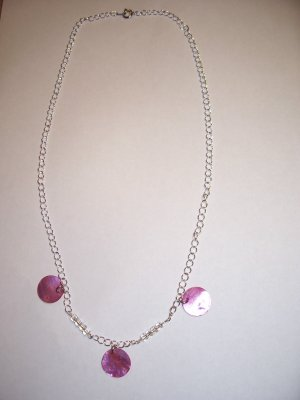 Pink Shell Necklace-Earring Set