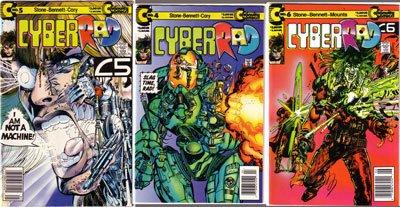 CYBERRAD #4, 5, 6 VF+ - Continuity Comics