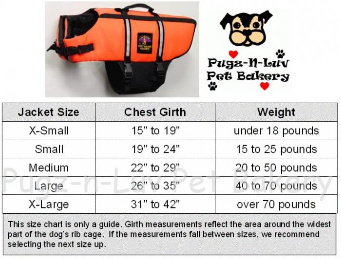 Outward Hound X-LARGE Dog Life Vest Jacket Water Safety