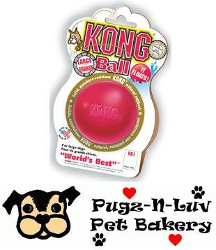 Kong MEDIUM Hard Rubber Ball Chew Toy for Dogs