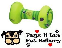 "Multipet Wiggly Giggly 6.5"" Bone Dog Toy"