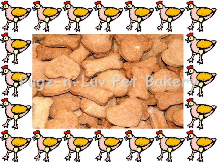 Dog Treats Biscuits Gourmet Homemade 1 LB Chicken