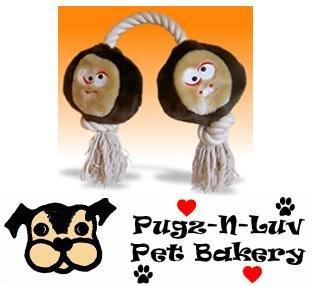 Mutt Nutts Plush Rope Dog Toy Tug Treat Squeak Buckeye