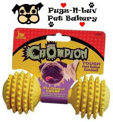 Chompion HEAVYWEIGHT Rubber Dental Dog Chew Toy JW Pet