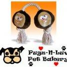 Mutt Nutts Ohio State Buckeye Plush Rope Dog Toy Treat