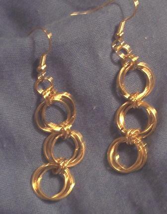 Chain Maille Double Flower Earrings