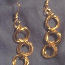 Chain Maille Double Flower Earrings