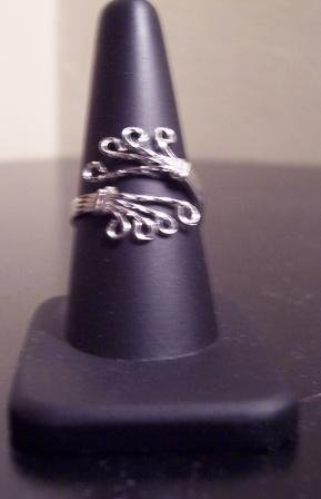 Adjustable Sterling Silver Ladies Ring