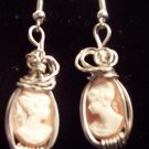 Sterling Silver Cameo Earrings