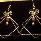 Gorgeous Sterling Silver Earrings with Poppy Jasper Beads
