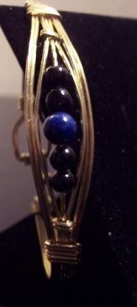 Brass and Blue adventurine bracelet