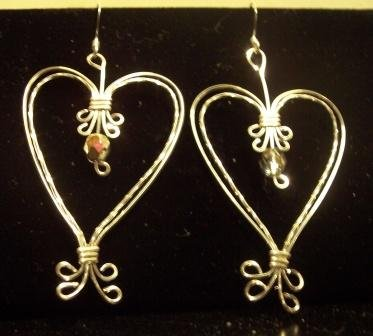 Double Heart Sterling Silver Earrings