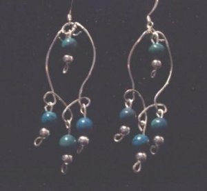 Beautiful Sterling Silver/Turquoise Earrings
